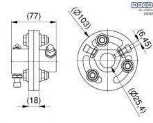 ACCOUPLEMENT FONTE 25.4 mm